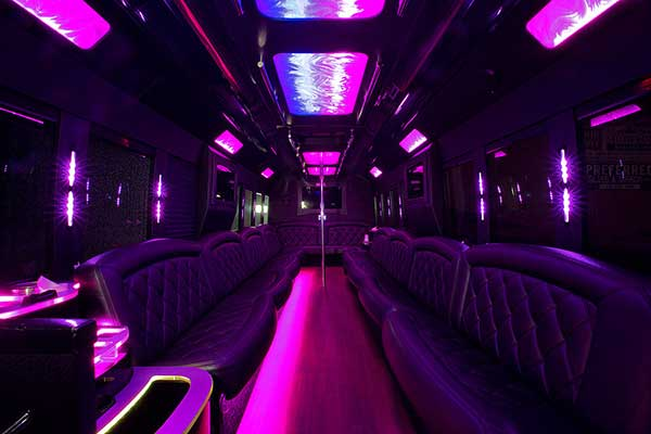 White Party Bus Interior